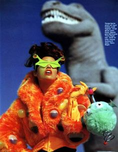 Shana Zadrick by Gilles Bensimon … Mugler's Monster Show, Elle US, November 1991 … Image Fashion, Fashion Art, Editorial Fashion, Trendy Fashion, Crazy Fashion, Fashion Vintage, Modern Fashion, Fashion Outfits, Mode Pop
