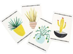 Nothing makes a postcard better than a cactus illustration