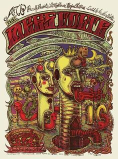 Another acid-trip Mars Volta gig poster by Michael Michael Motorcycle