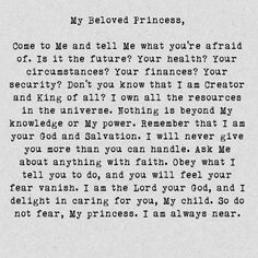 To My Beloved Princess