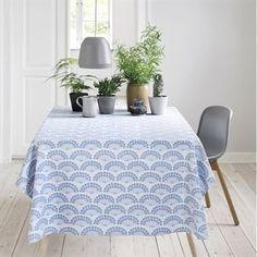 Blue Flowers voksduk - blå - Susanne Schjerning