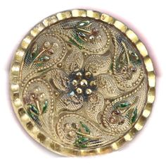 Old Lacy Glass Button  Medium by KPHoppe on Etsy