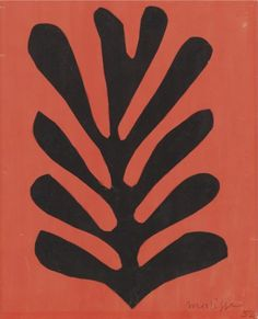 """igormaglica: """" Henri Matisse Feuille noire sur fond rouge / Black leaf on red background, gouache and collage on paper, 50 x 40 cm """" Henri Matisse, Matisse Paintings, Picasso Paintings, House Paintings, Pablo Picasso, Matisse Tattoo, Matisse Drawing, Matisse Cutouts, December"""