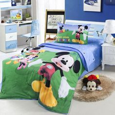 Mickey Mouse Club Green Disney Bedding Bedding Decor, Bedding Sets, Disney Bedding, Mickey Mouse Club, Dreaming Of You, Childhood, Kids Rugs, Make It Yourself, Nice