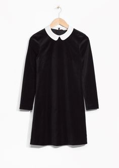 & Other Stories image 1 of Twiggy Velvet Dress  in Black