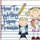 After using a set of popular writing units of study (with How To writing included) for many years, I figured it was time to make and use my own pap...