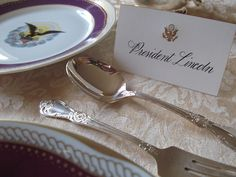 10 Secrets of the White House Calligraphers - Neatorama Mary Todd Lincoln, The Secret, Place Cards, Tableware, People, House, Dinnerware, Home, Tablewares