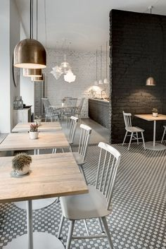 Cafe restaurant furniture timber always brings such a cozy feel to any inte Restaurant Design, Deco Restaurant, Cafe Furniture, Restaurant Furniture, Restaurant Tables And Chairs, Furniture Ideas, Furniture Design, Café Design, Home Design