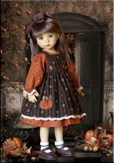 """PUMPKIN SPICE"" by Tauni for 13"" Dianna Effner Little Darling Doll #unbranded"