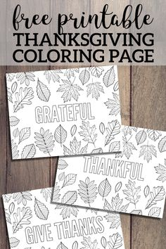 Thanksgiving Coloring Pages {Free Printable} - Paper Trail Design