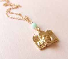 Camera Necklace by CocoroJewelry on Etsy