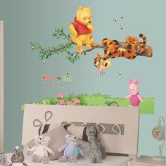 Winnie The Pooh Nursery Wall Decal – the treasure thrift