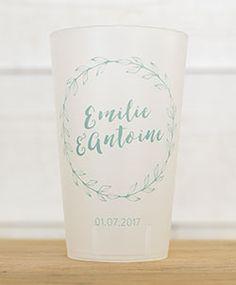 Petits mariages entre amis : Eco-cup - 3,50 €/ pièce et minimum 25 en commande