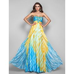 b4fbd3234b11   75.00  Ball Gown Strapless Floor Length Chiffon Dress with Beading    Sequin   Draping by TS Couture®