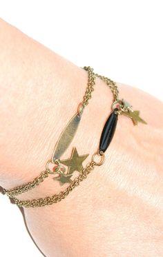 Bracelet sequin émailé noir ou bronze...