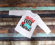 8116898f Straight Outta Your Dreams, Valentine Shirt, Boy Valentine Shirt, Raglan,  Valentine Baseball Shirt