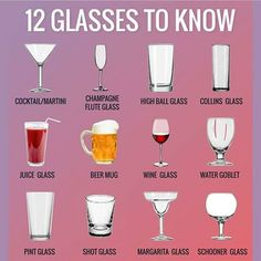 English Vocabulary ©: 12 Glasses to Know English Tips, English Class, English Lessons, Learn English For Free, Learn English Words, Gernal Knowledge, General Knowledge Facts, Knowledge Quotes, Food Vocabulary