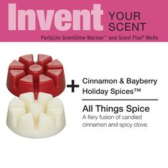 Invent Your Holiday Scent with #PartyLite Scent Plus® melts http://partylite.biz/alpinkerton