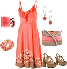 """""""Coral"""" by yiannab on Polyvore"""