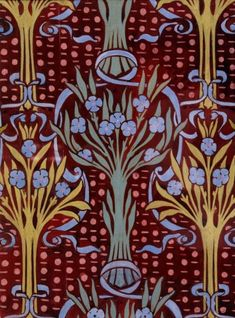 ¤ Floral design Arthur Heygate Mackmurdo (1851 - 1942) Material : bodycolour on paper A97