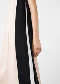 Kontrast panel klänning