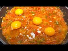 Reteta de MENEMEN TURCESC 💪- retete turcesti - YouTube Romanian Food, Jamie Oliver, Eggs, Cooking, Breakfast, Ethnic Recipes, Youtube, Kochen, Kitchen