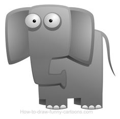 Huge cartoon elephant with great ears. Did you heard what I said Mr. Elephant?