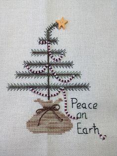xmas tree with beads