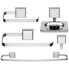 Kit Acessorios para Banheiro Misu 5pçs 004993 Jackwal