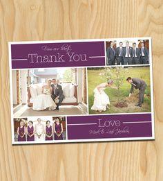 Eggplant Wedding Collage  Custom Printable by thirtyonedesigns