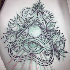 Leg Tattoos, Body Art Tattoos, Sleeve Tattoos, Dibujos Tattoo, Desenho Tattoo, Tattoo Sketches, Tattoo Drawings, Ouija Tattoo, All Seeing Eye Tattoo