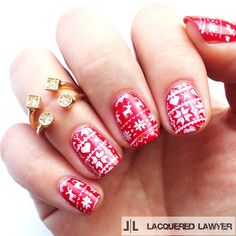 Lacquered Lawyer   Nail Art Blog: Holiday Sweater