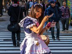 Candid street portrait, tokyo