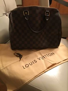 2059a4adc43f Authentic Louis Vuitton Speedy 30 Damier Ebene - barely used- small pen  mark  fashion
