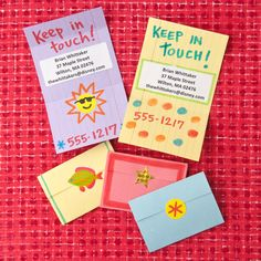 Buddy Business Card  Cards printed with contact information aren't just for grown-ups. This simple, DIY version — for passing out on the last day of school — can help little ones stay connected during the summer months.