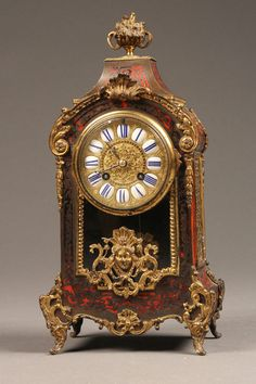Late 19th century French Napoleon III style Boule mantle clock, Circa 1880. #antique #clock