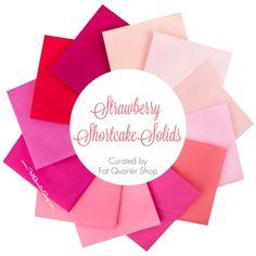 Strawberry Shortcake Solids Fat Quarter Bundle<BR>Curated by Fat Quarter Shop