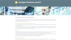 The latest site on the www.recruitersites.co.uk platform has been launched for https://www.metzgerbusinesssearch.com #recruitment #websites