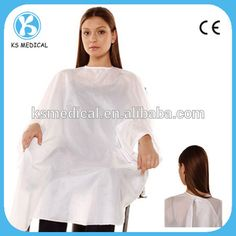 Disposable plastic pattern salon hair cape