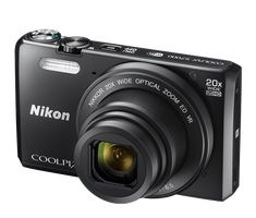 """20x Zoom 16 Megapixels 3""""LCD Screen 125-1600 ISO 7 Frames Per Second Zoom in close with Dynamic Fine ZoomThe COOLPIX S7000's 20x optical zoom lens goes from wide-angle—great for portraits and landscapes—all the way up to telephoto—great for closeups of sports, concerts, nature and more. When you need even more reach, zoom up to 20x with optical zoom and 40x with Dynamic Fine Zoom, an enhanced digital zoom function that effectively doubles your reach. Share your photos in a snap—Nikon… Pen Camera, Camera Case, Video Camera, Wifi, Optical Image, Small Camera, Nikon Coolpix, Camera Settings, Zoom Lens"""