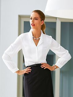 Image result for classic white blouse