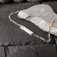 Babyarmband, Kinderarmband, 925 Silber ID Armband, Schildarmband, Gravur, GA-32