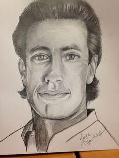 Jerry Seinfeld in graphite