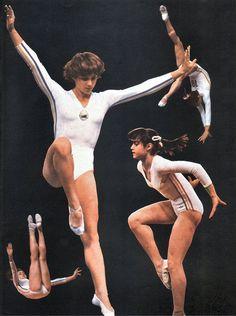 Nadia..... Gymnastics History, Gymnastics Pictures, Artistic Gymnastics, Olympic Swimmers, Olympic Sports, Nadia Comaneci Perfect 10, Gym Leotards, Leotard Fashion, Sports