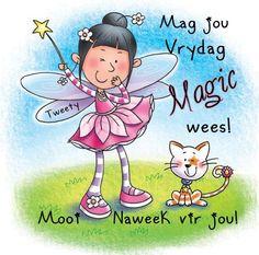 Goeie Nag, Goeie More, Afrikaans, Good Morning Quotes, Mornings, Tweety, Smurfs, Amanda, Character