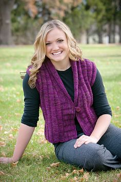 Mountain Colors River Twist Ravelry: Shawl Collar Vest pattern by Lesley Jennings