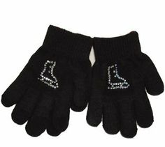 Rhinestone Ice Skate Logo Gloves - Child 7-16 years by Jenskates LLC. $4.99. These magic stretch rhinestone gloves are great for skating practice or chilly days.