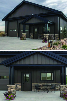 Garageremodeling Remodeling Garage In 2019 Metal Garages Metal House Plans, Pole Barn House Plans, Garage House Plans, Shop House Plans, Pole Barn Garage, Rv Garage, Pole Barn Shop, Metal Pole Barns, Steel Garage