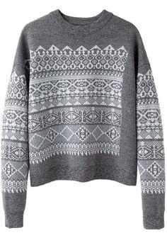Alexander Wang / Fair Isle Sweatshirt | La Garçonne