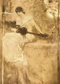 Nikolaos Gyzis - Poetry coordinates violin with the song of the spring Sculpture Art, Sculptures, Greek Paintings, Mermaid Board, Social Art, Greek Art, 10 Picture, Aesthetic Art, Artist Art